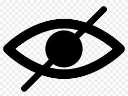Hide Blind Eye Opened Essentials Diagonal Line Blind Man Symbol Free Transparent Png Clipart Images Download Symbols Blind Art Clip Art
