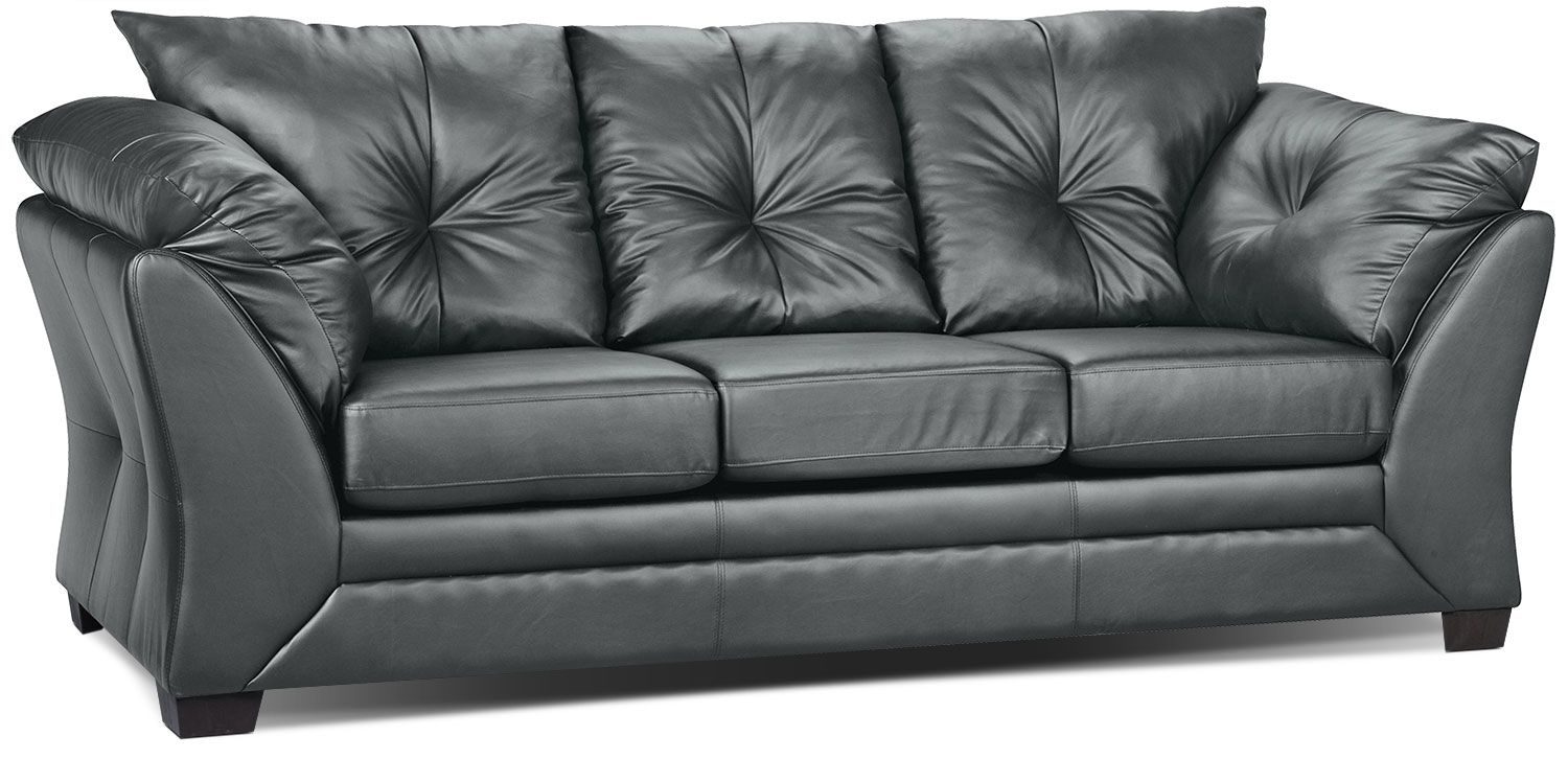 Relax To The Max With This Comfortable Faux Leather Sofa Covered In Durable