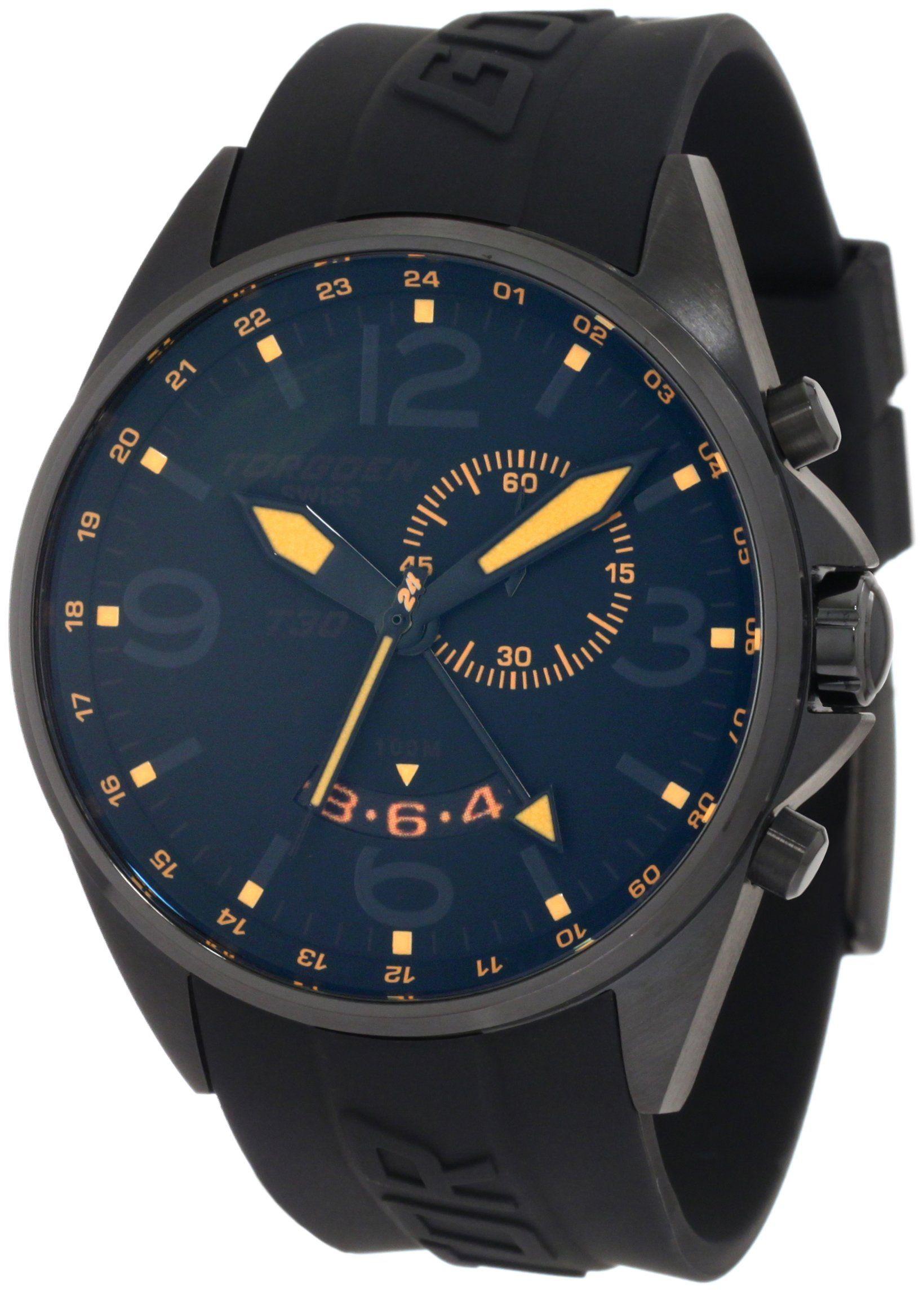 4ee16f4d57d Torgoen Swiss Men s T30304 T30 Series Classic Black Aviation Watch ...