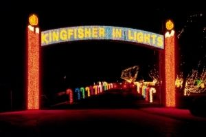 The Kingfisher In Lights Drive Through Display Features More Than 2 Million Twinkling Lights Holiday Lights Outdoor Travel And Tourism Christmas Light Displays