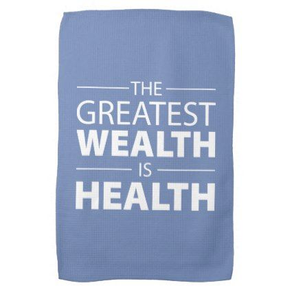 health is wealth workout gym inspirational kitchen towel