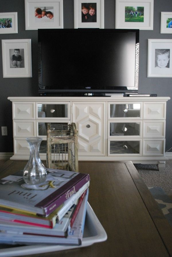 Don't need to buy a special media table--Use a #dresser as a #media console. #DecorbyMe @For Rent.com