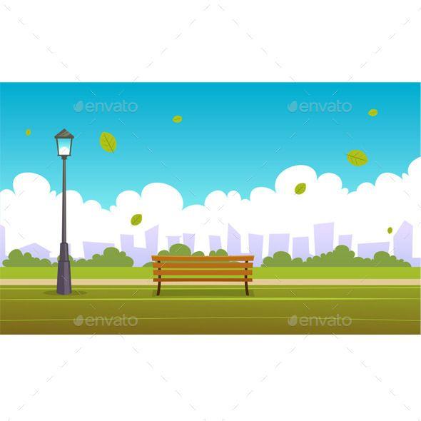 summer city park | cartoon city, cartoon and park