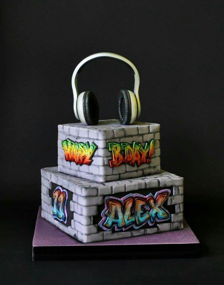 Pin By Sandra Novak On Teen Cakes Pinterest Hip Hop Party