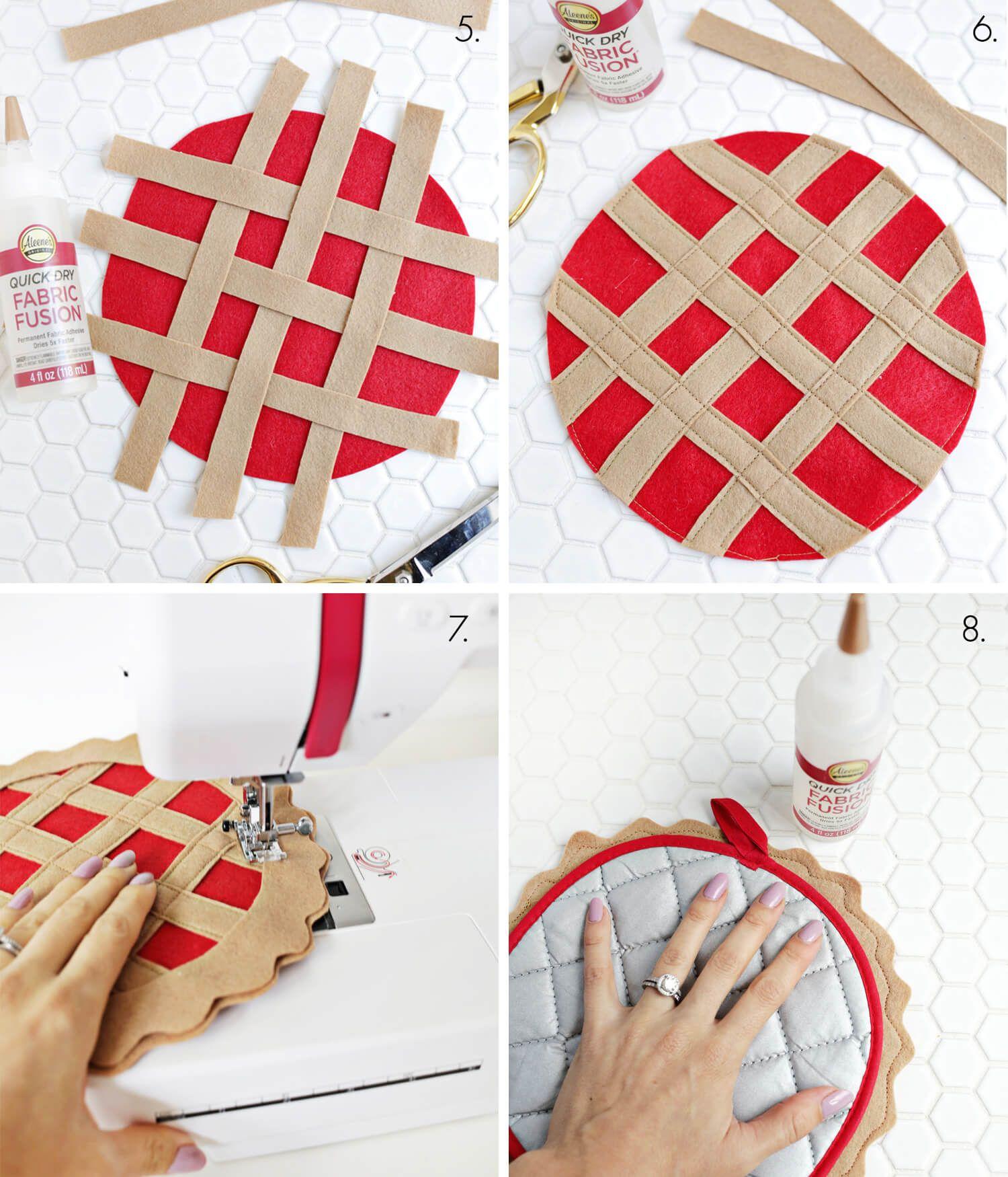 Cherry Pie Potholder Diy Sewing Crafts Potholder Diy Pot Holders