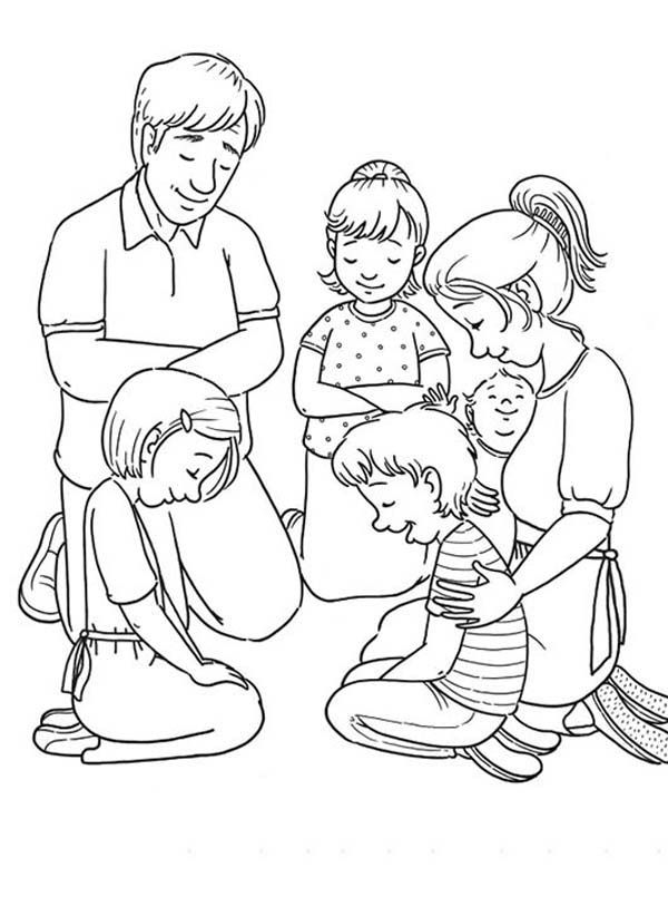 Children Praying Coloring Page - Coloring Style Pages | Dori ...