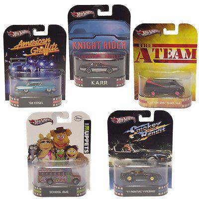 Hot Wheels Retro Entertainment Rare 1 64 Movie Cars Knight Rider A