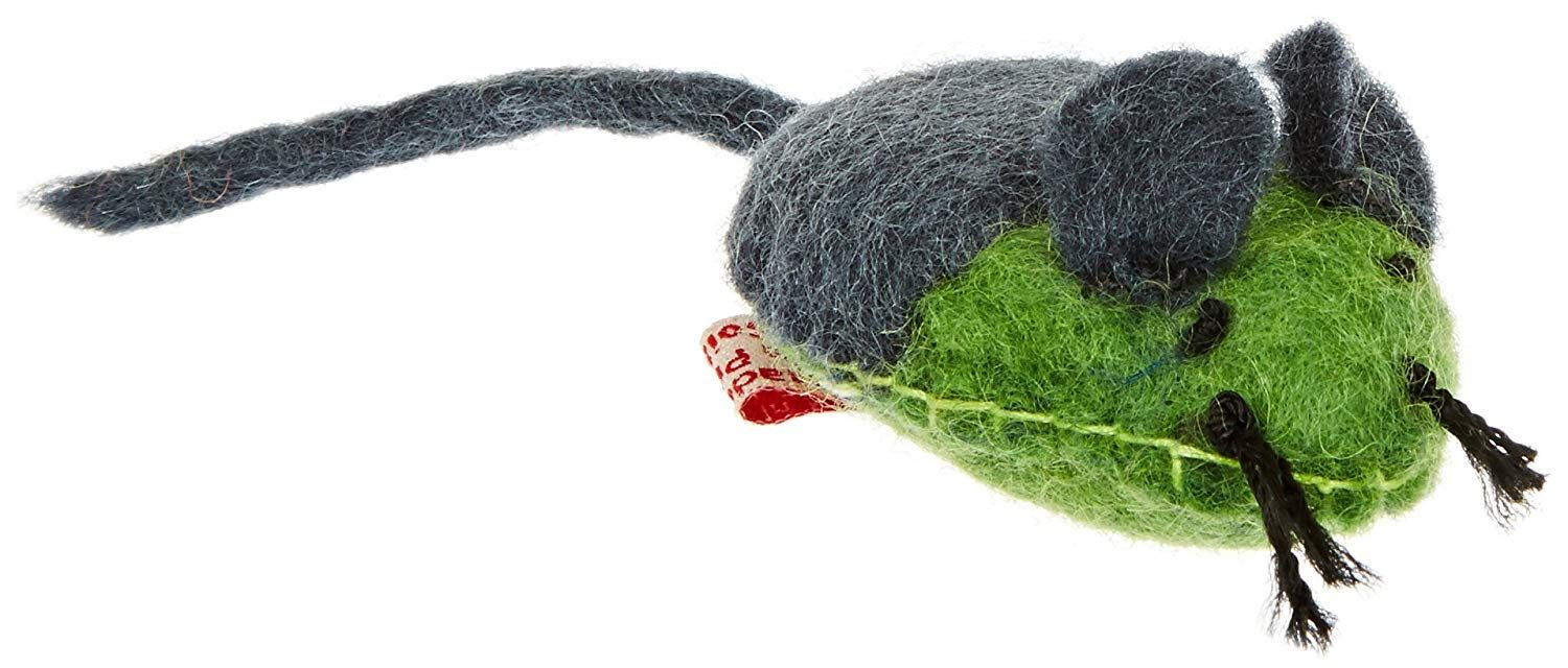 One Pet Wooly Fun Stitched Mouse Toy * Continue to