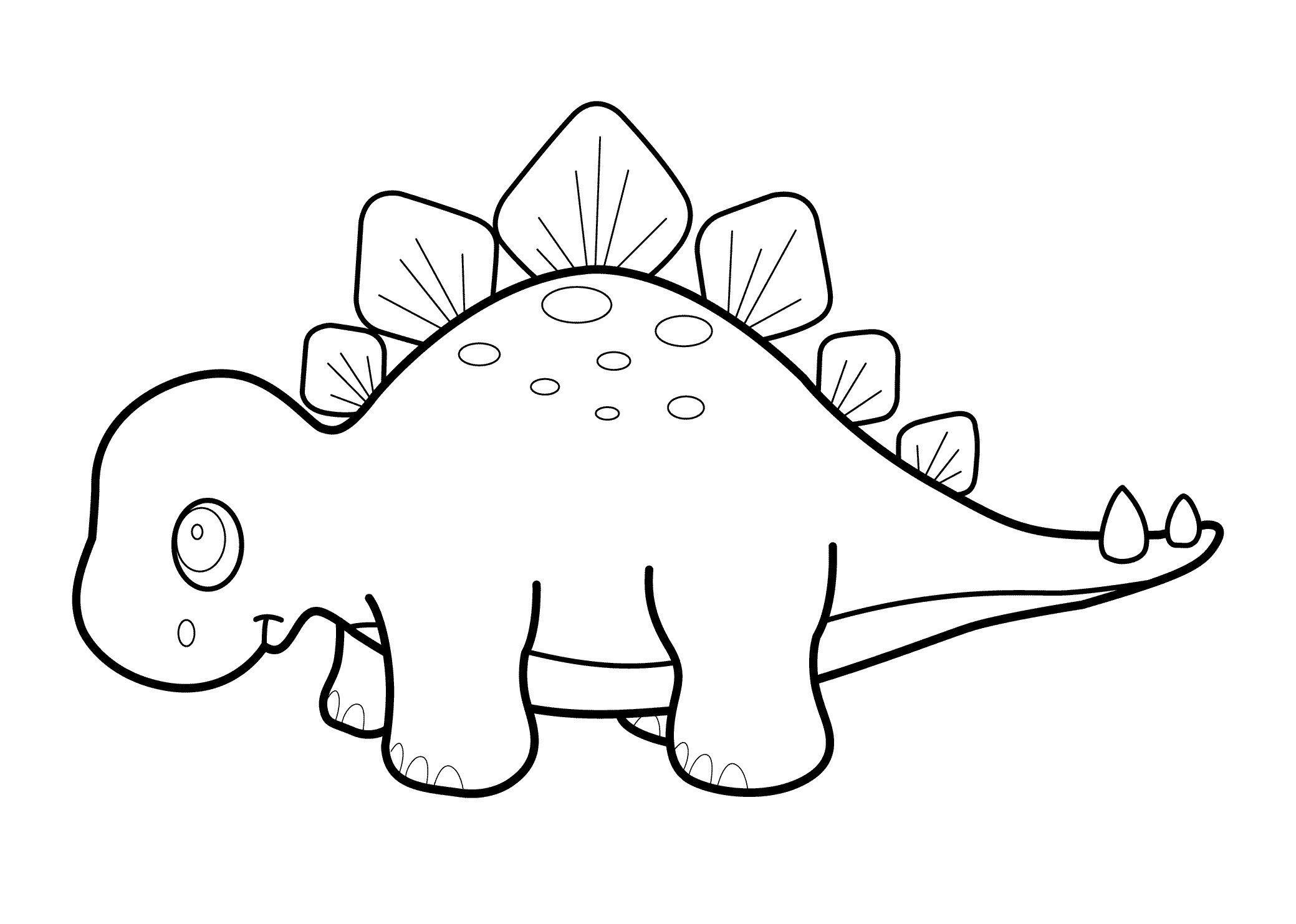Printable Stegosaurus Dinosaur Coloring Pages K5