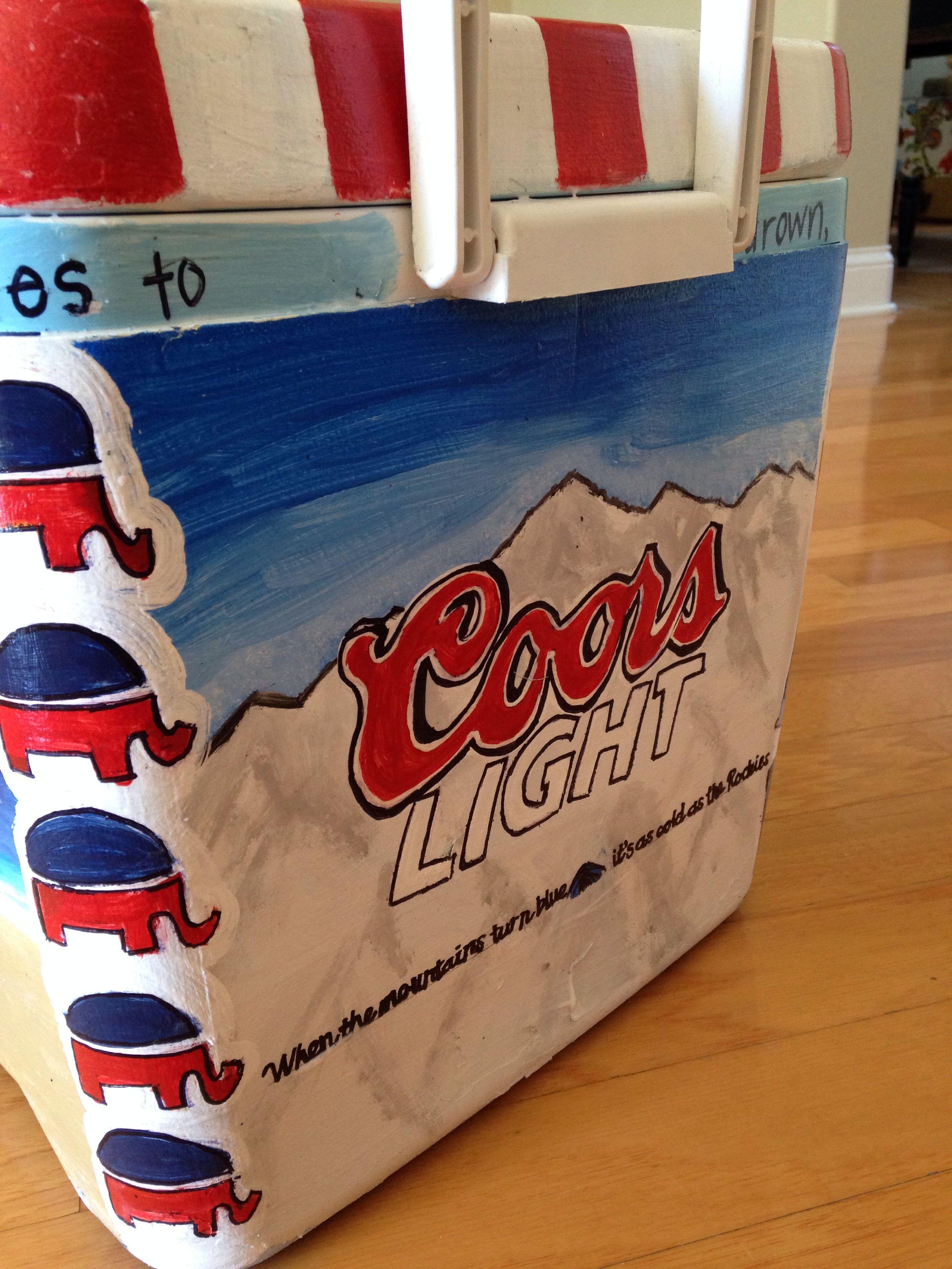 Coors light cooler | Cooler | Pinterest