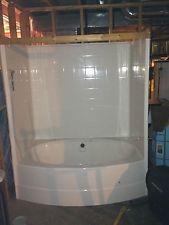 Jacuzzi Tub Shower Combo BATH TUB White Oval Acrylic TubShower - Acrylic shower tub combo
