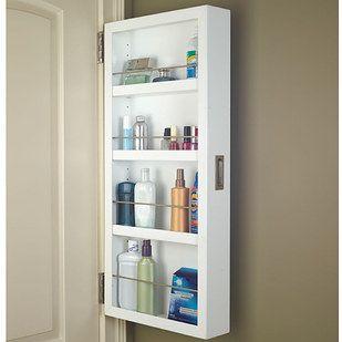 Slim Storage Cabinet Bathroom Decor, Behind The Door Storage Cabinet With Mirror