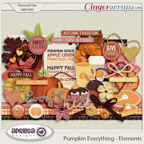Pumpkin Everything - Elements by Aprilisa Designs