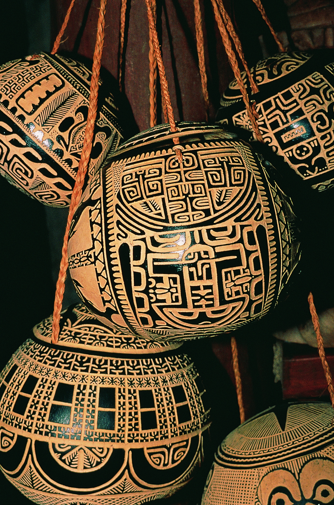 Marquesan Carved Coconut's from The Islands of Tahiti