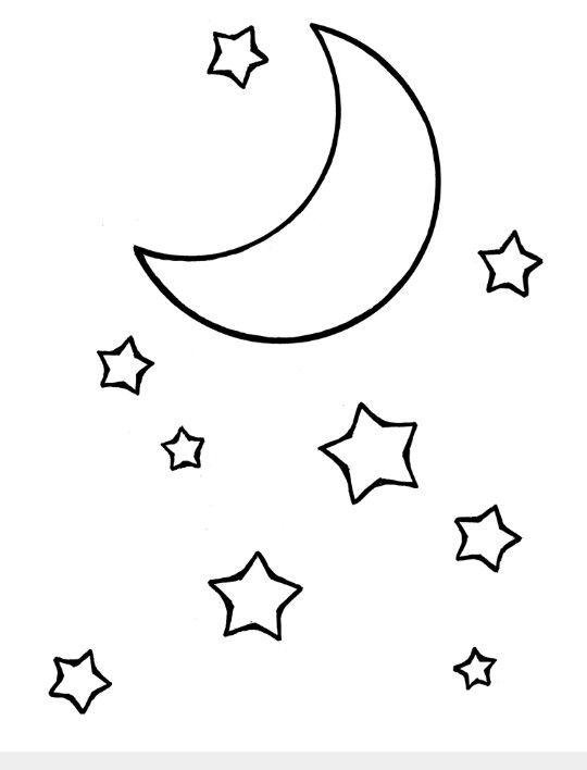 idea kleurplaten maan tekening lijntekeningen