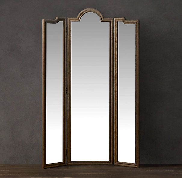 Gallery For Website Levico Standing Triptych Mirror Natural