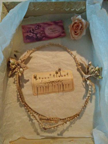 RARE-couronne-de-mariee-fleurs-en-cire-boite-d-origine