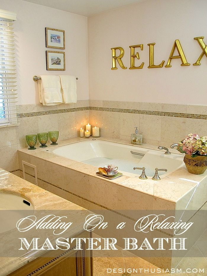 A Relaxing Master Bath Add On Master Bathroom Decor Bathrooms