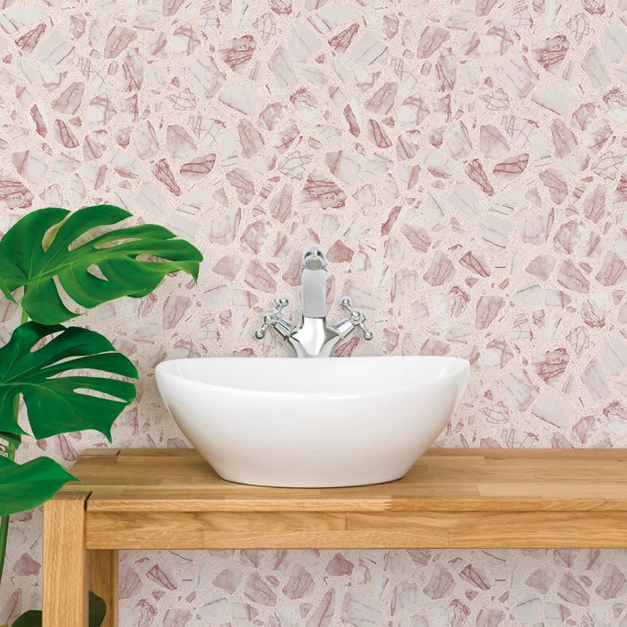 Speckled Terrazzo Peel And Stick Wallpaper Removable Wallpaper Vinyl Stone