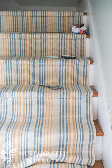 DIY Stair Runner Installation with Miss Mustard Seed - Fresh American Style|Fresh American Style