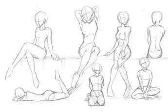 Body Positions Female Girl How To Draw Manga Anime Drawing Anime Bodies Anime Drawings Sketches Body Pose Drawing