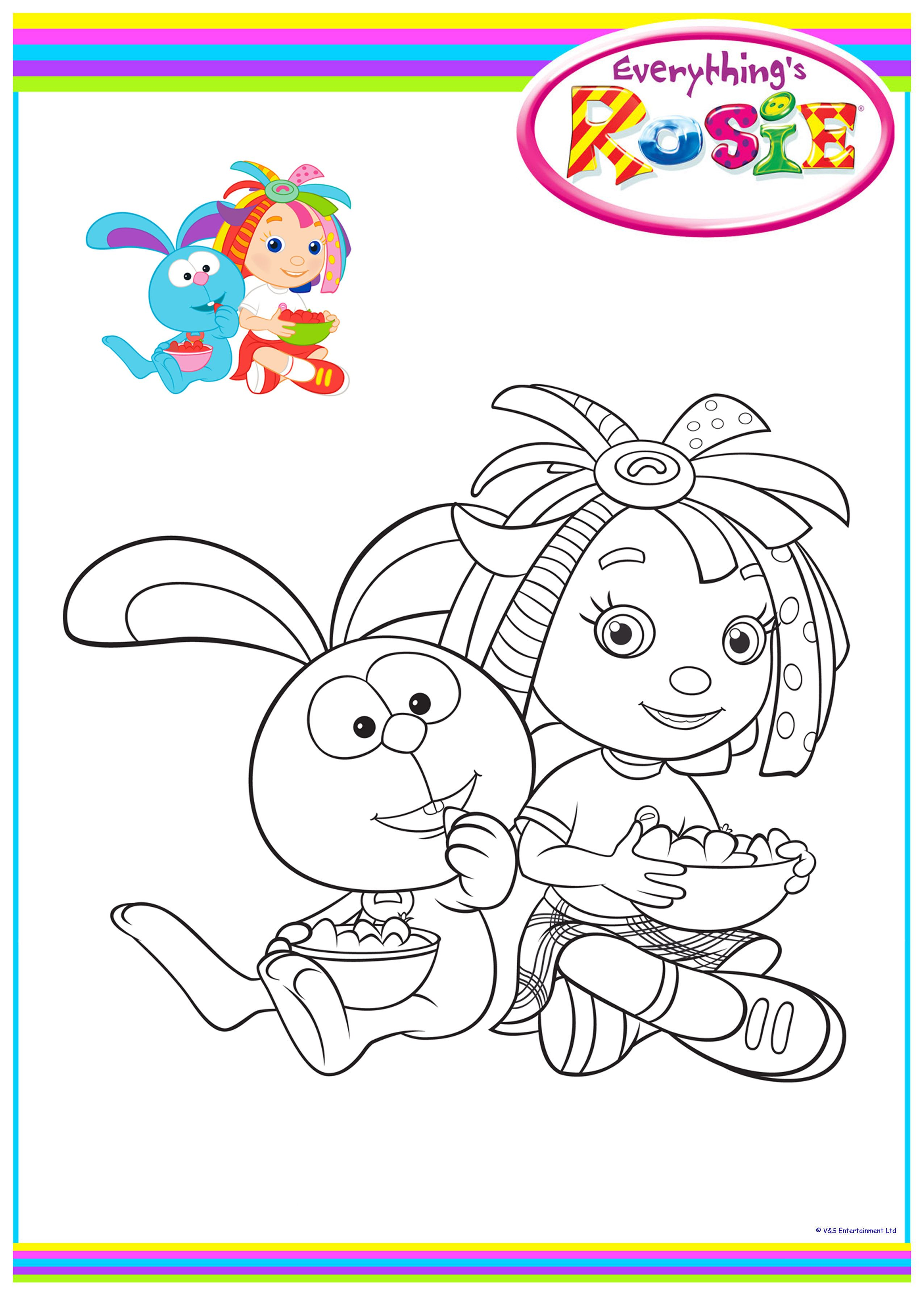 everythings rosie coloring book pages - photo#6