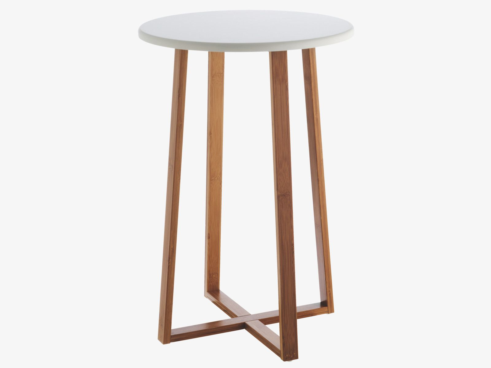 Drew Bamboo And White Lacquer Tall Side Table Stools