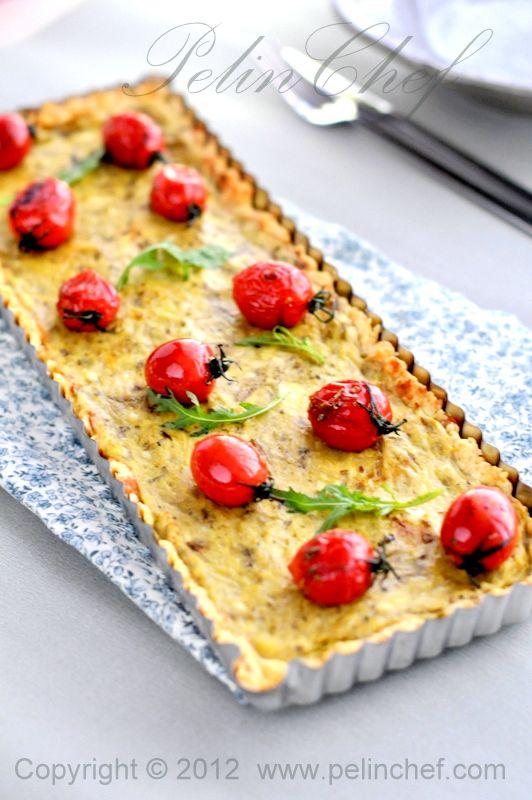 Patlıcanlı Peynirli Tart
