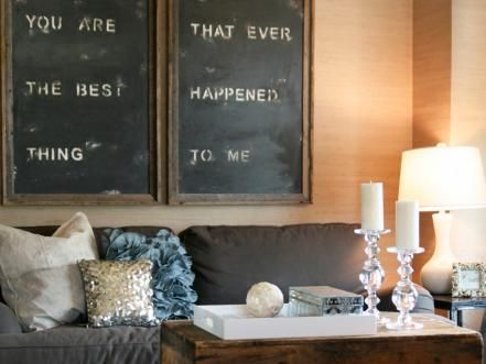 Go ahead, write on the walls — and the table and the cabinets and the ceiling. Flip through our favorite ways to use chalkboard paint at home.