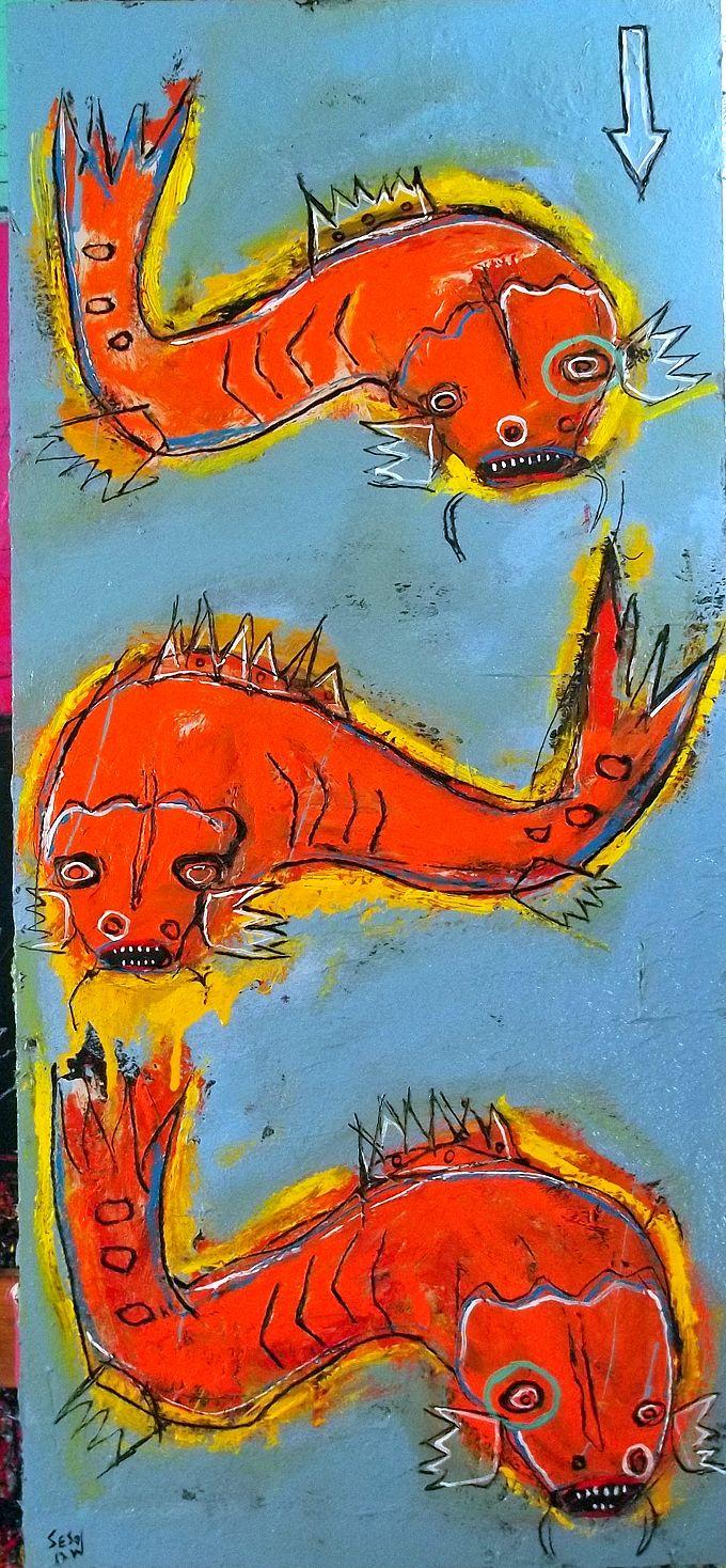 """koi pond"" by matt sesow (the latest matt sesow paintings updated throughout the week at http://new.sesow.com )"
