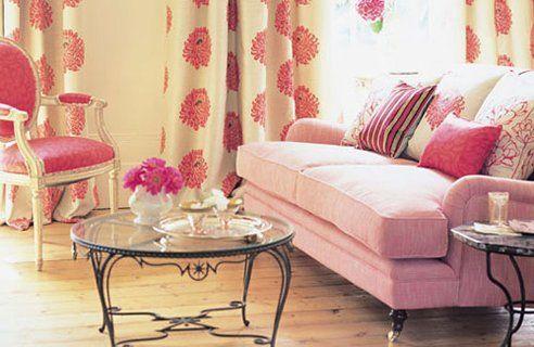 Romo-Living-Room-Design Decorating with light pink Choose pale