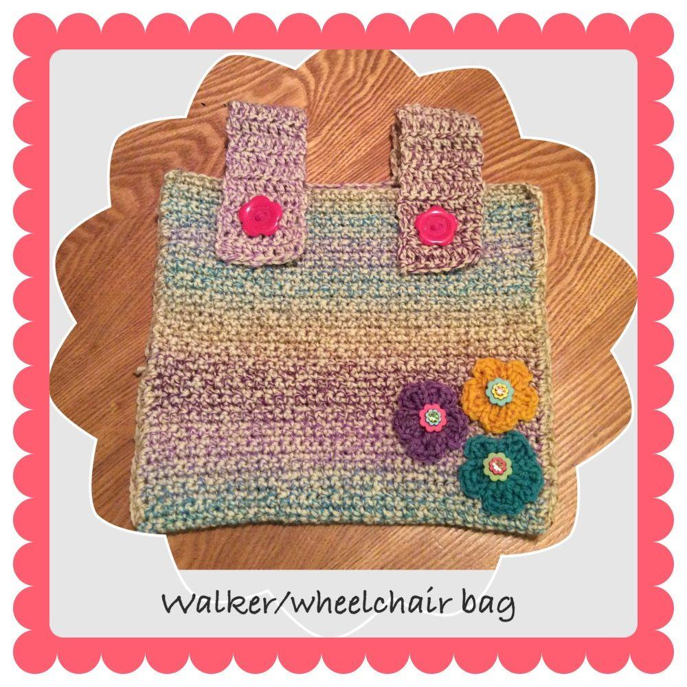 Walker or wheelchair bag | Zoryani\'s Crochet | Pinterest | Crochet ...