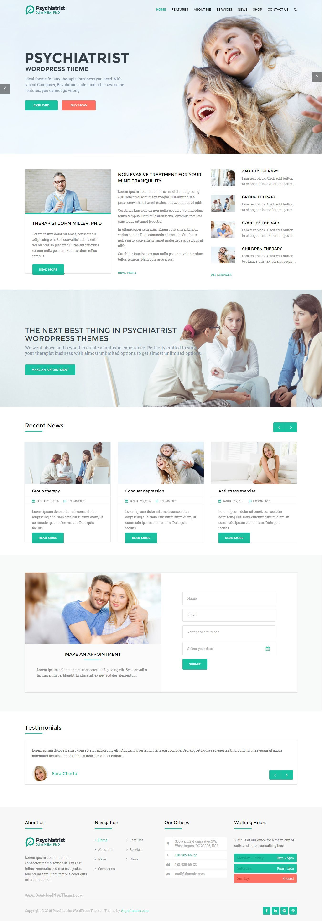 Psychiatrist is a wordpress business theme it is focused on psychiatrist is a wordpress business theme it is focused on building websites in the psychiatry psychology therapist company niches healthcare friedricerecipe Choice Image