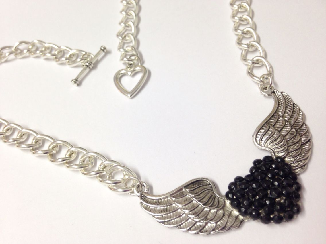 Heart of an angel in black