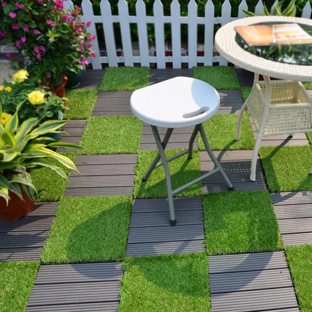Artificial Antiwear Grass Deck Turf Garden Decking Tile