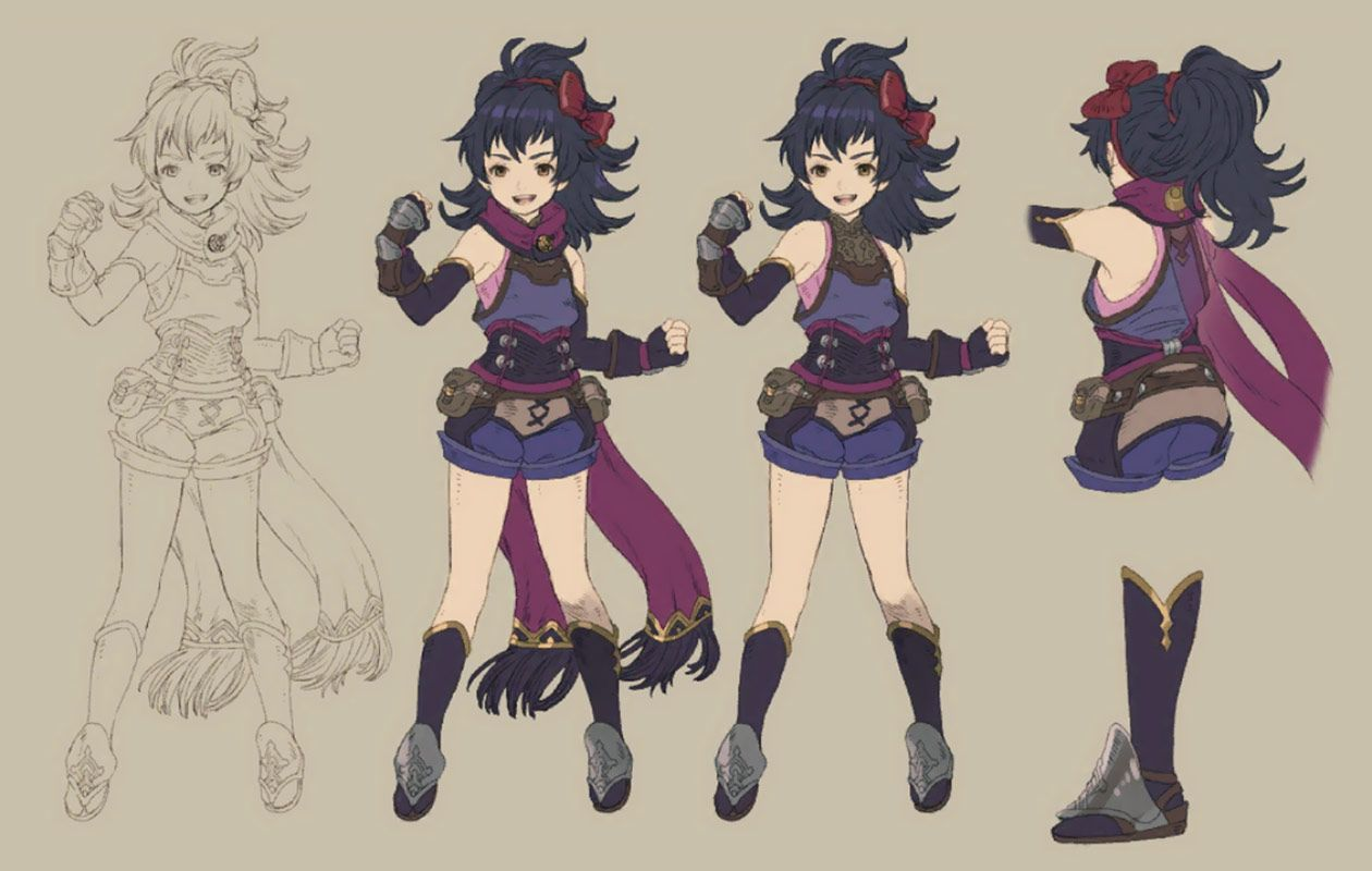 Maina Concept from Final Fantasy Dimensions II
