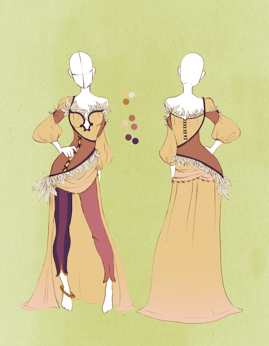 Character Design Commission Price : Commission outfit april by violetky viantart