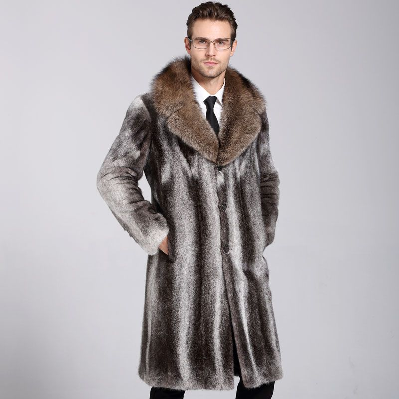 Find More Leather & Suede Information about men's Fur Coat 2016 ...