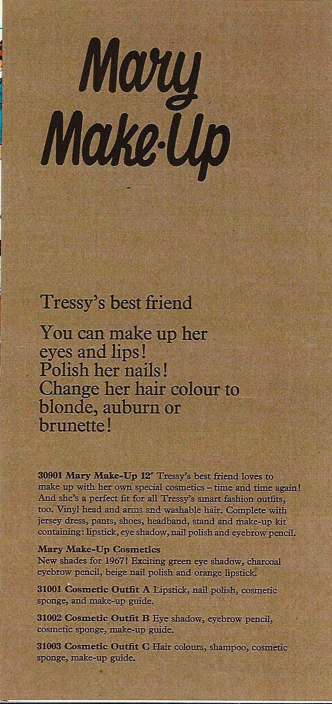 From the trade Brochure - Mary Make Up product description.