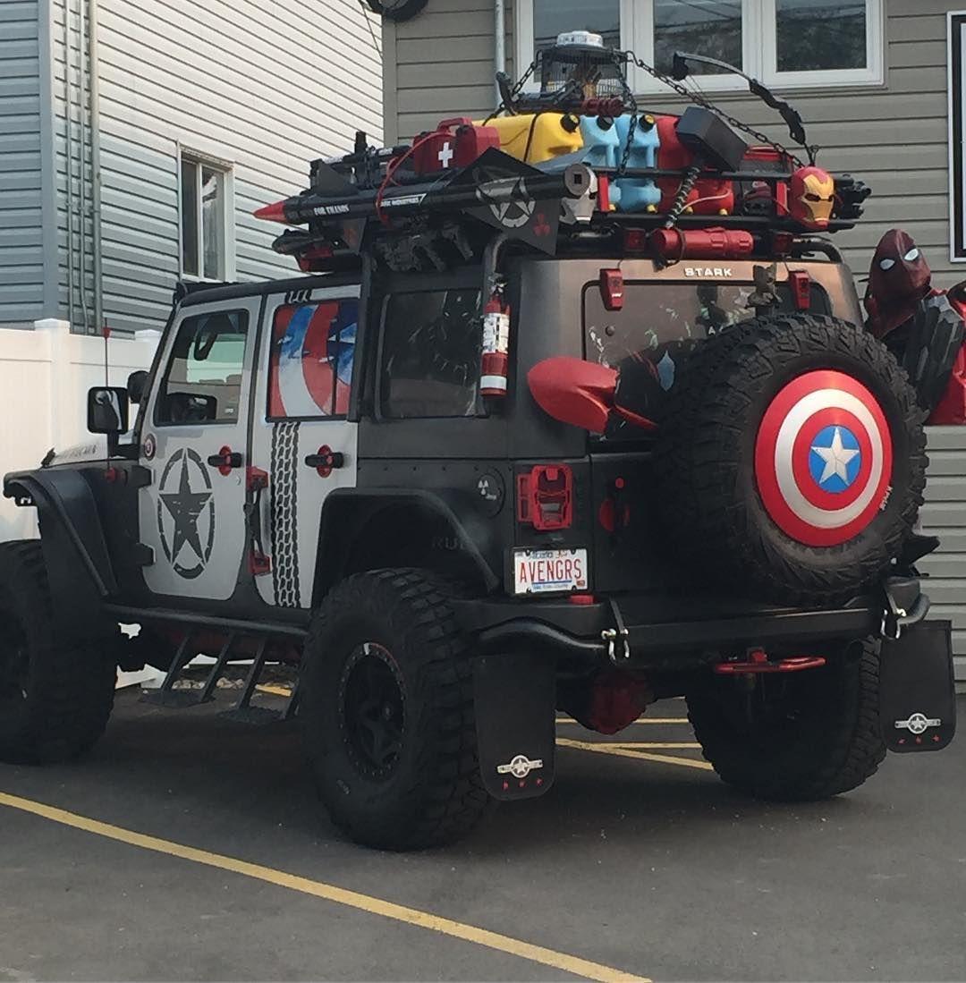 JEEP Iron Man Avengers Car Truck Vinyl Decal Sticker JEEP WRANGLER 8 COLORS