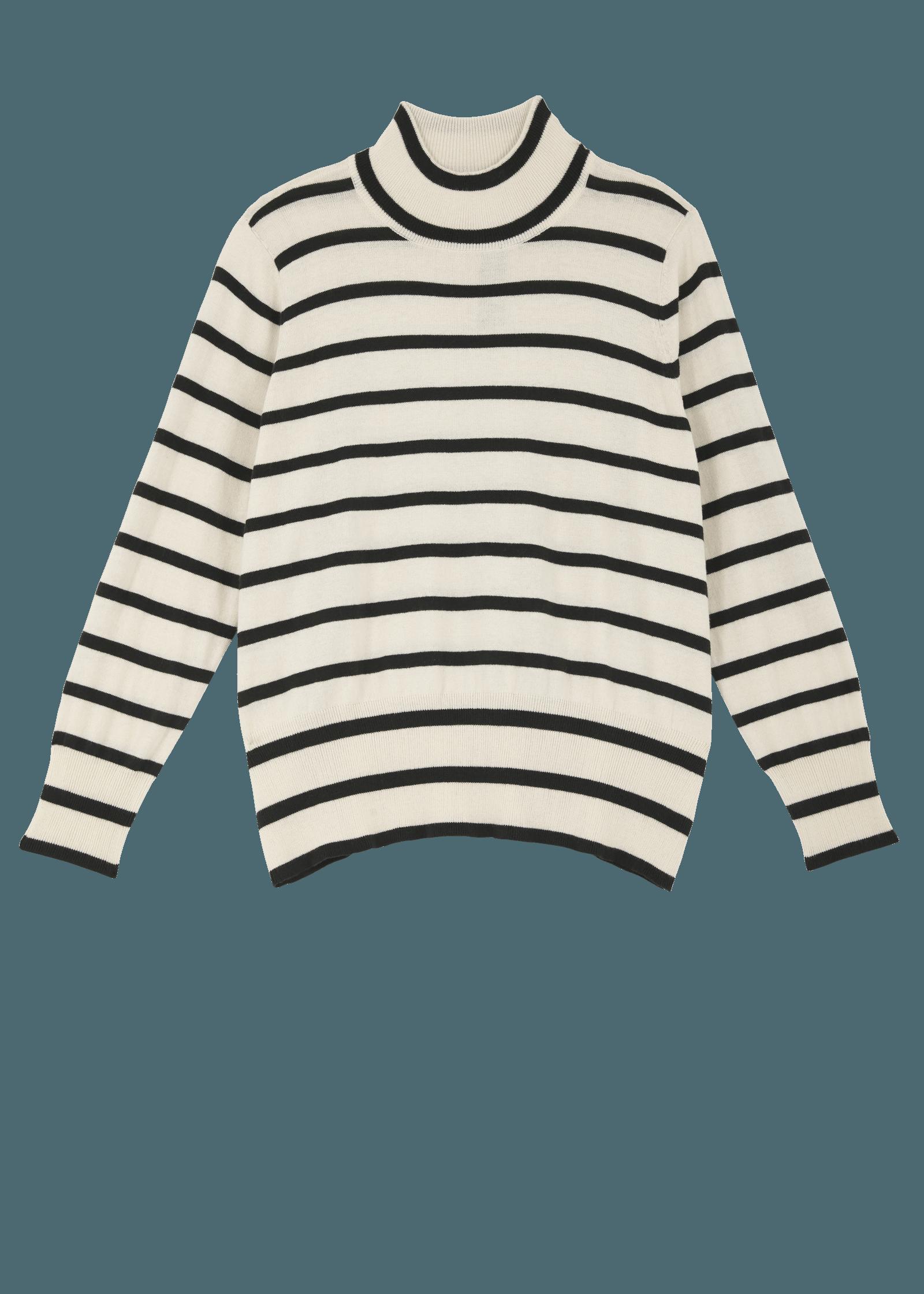 abe498463ea2b7 Turtleneck Striped Sweater at Melissa McCarthy Seven7