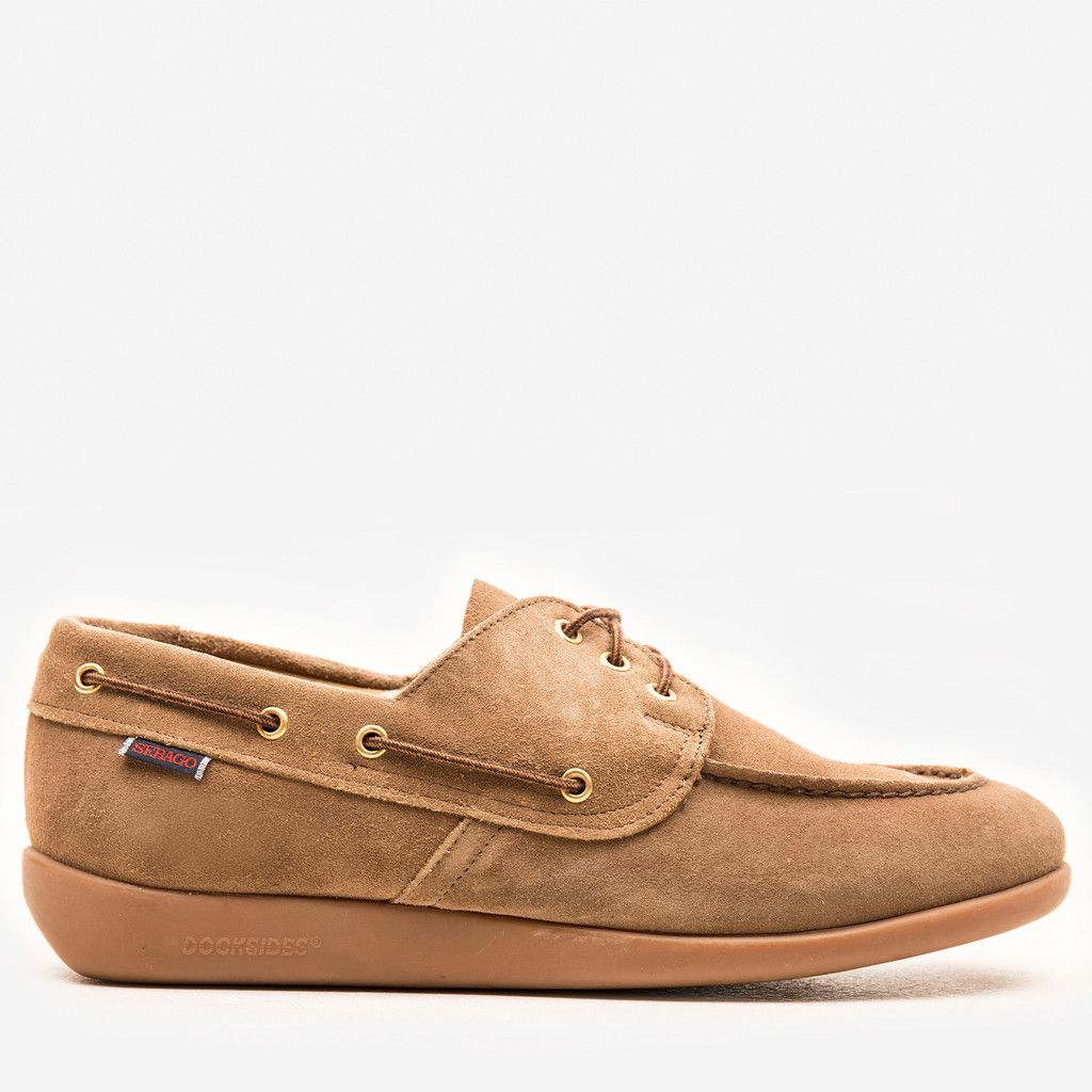 Sebago Jobson Docksides Taupe Suede | Boat shoes, Sperry