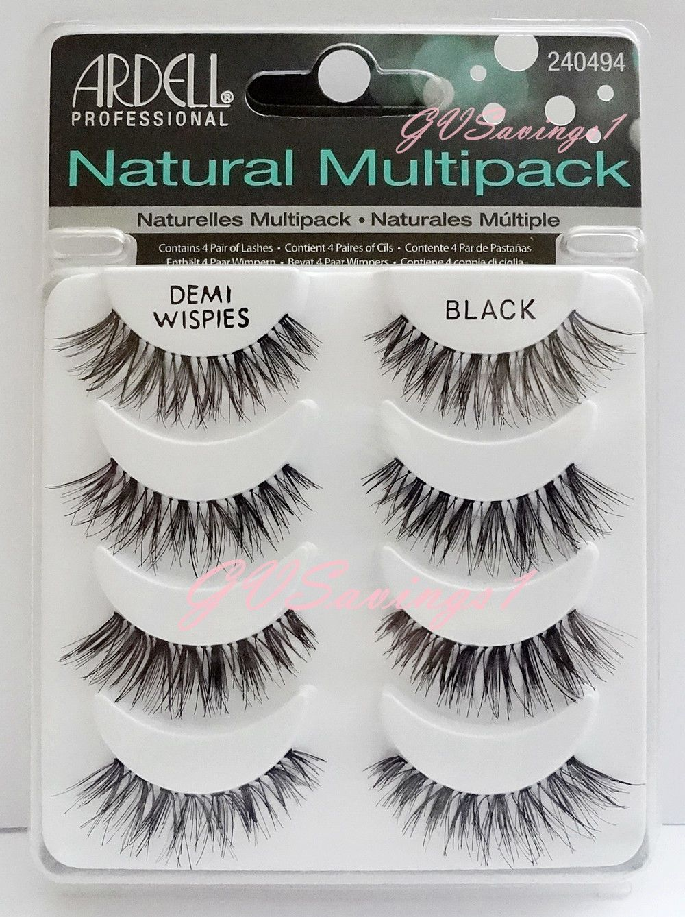 87bed703fb4 (4 Pairs) Ardell Demi Wispies Natural Multipack False Eyelashes Fake Lashes  Lot