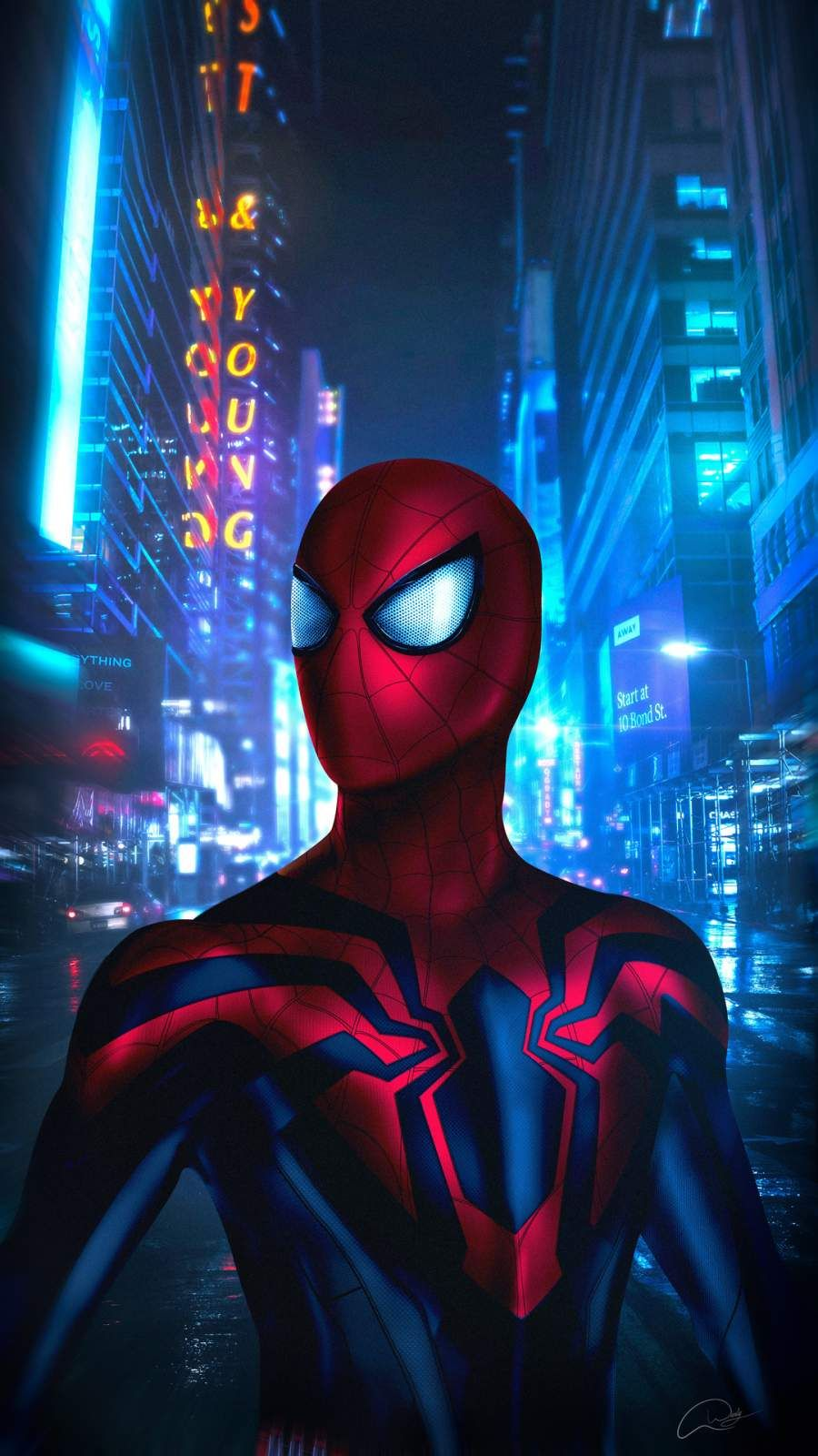 Spider Man In The City IPhone Wallpaper Marvel comics