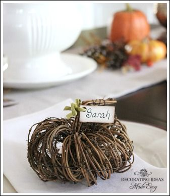 fall table decorations - I'm ready to start thinking about cooler days!