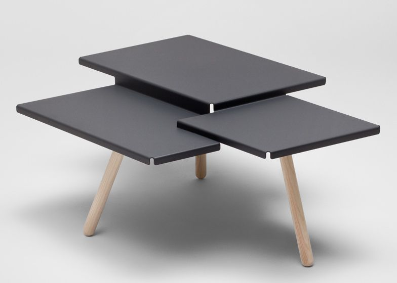 Tablefields 3 Tiered Table By Dutch Designer Frederik Roije Produced From A Single Piece Of Folded Sheet Me Coffee Table Stylish Coffee Table Furniture Design