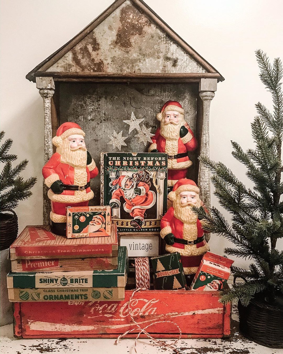 Jana On Instagram The Story I Saw These Three Vintage Santa S Kellyandcoantiques After Chr Vintage Christmas Vintage Christmas Decorations Vintage Santas