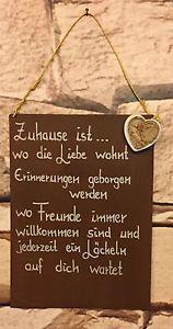 """Spruch Edel Rost Tafel Hochzeit Schild """"Zuhause Ist"""