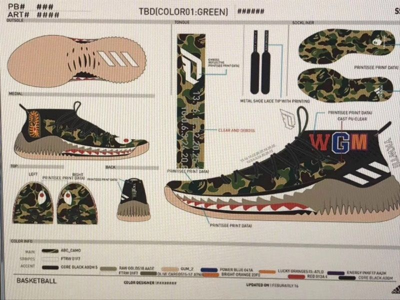 info for f1230 e16f7 BAPE x adidas Dame 4 Shark Hoodie  Camo Pack thatdope sneakers luxury  dope fashion trending