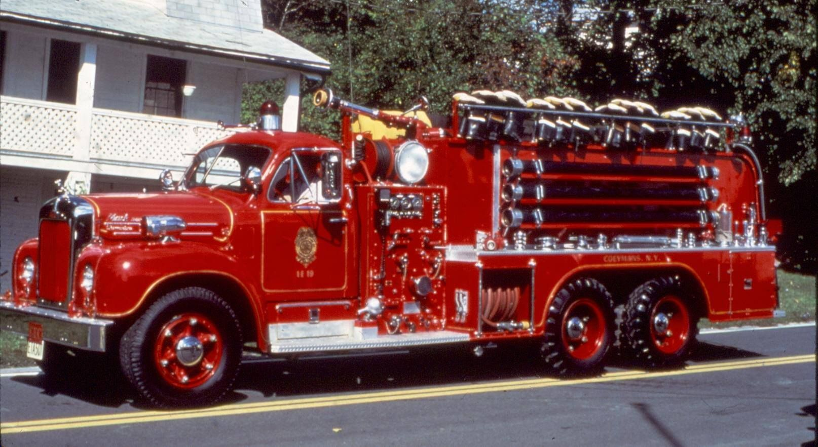 Vintage Fire Truck Colmyra Ny Fire Department A Picture Of The